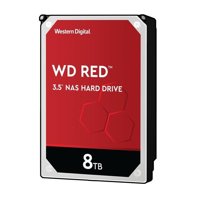"8TB WD Red NAS, SATA 6Gb/s, 5400rpm, 128MB, 3.5""(8.89 cm) image"