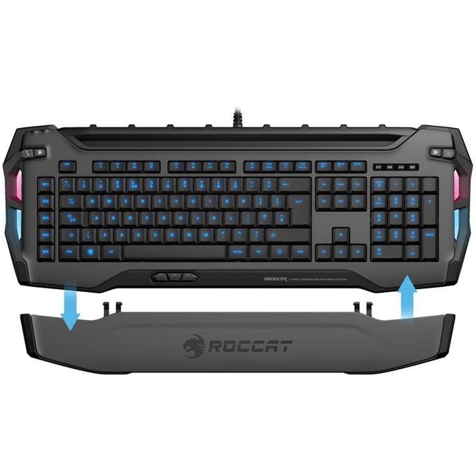 Клавиатура Roccat Skeltr, подсветка, гейминг, смарт достъп, черна, USB image