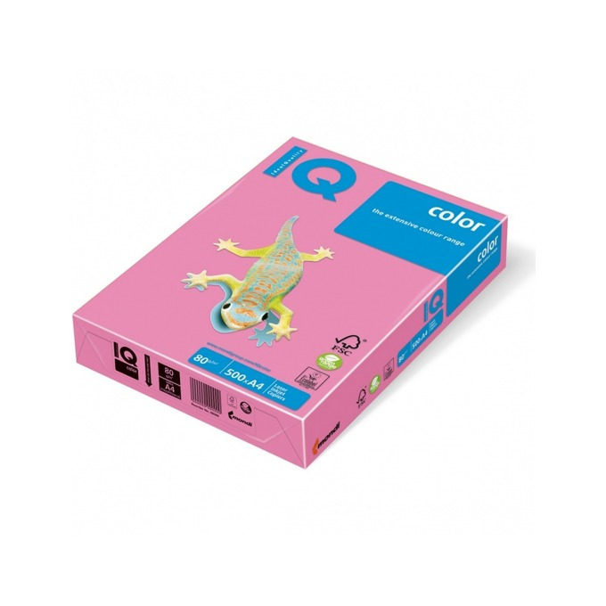 Хартия Mondi IQ Color PI25, A4, 80 g/m2, 500 листа, розова image