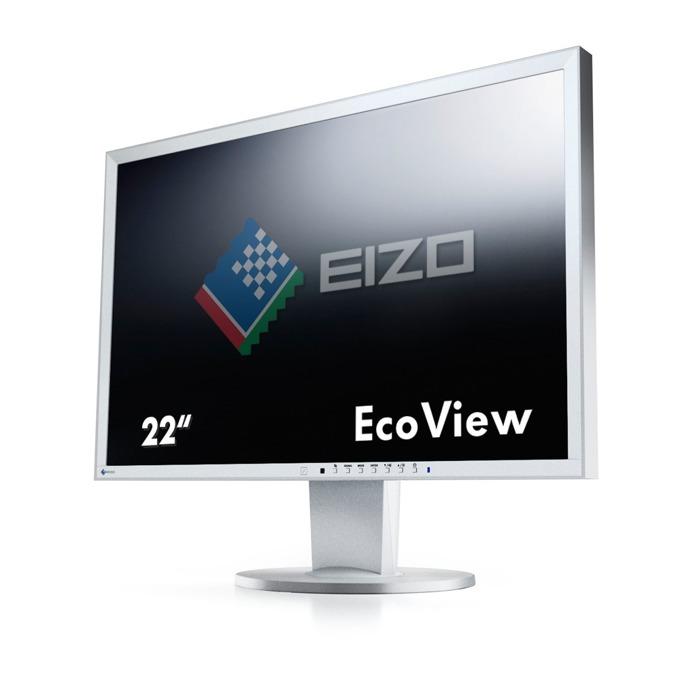 "Монитор EIZO EV2216WFS3-GY, 22""(55.88 см) TN панел, WSXGA+, 5ms, 250 cd/m2, DP, DVI, VGA image"