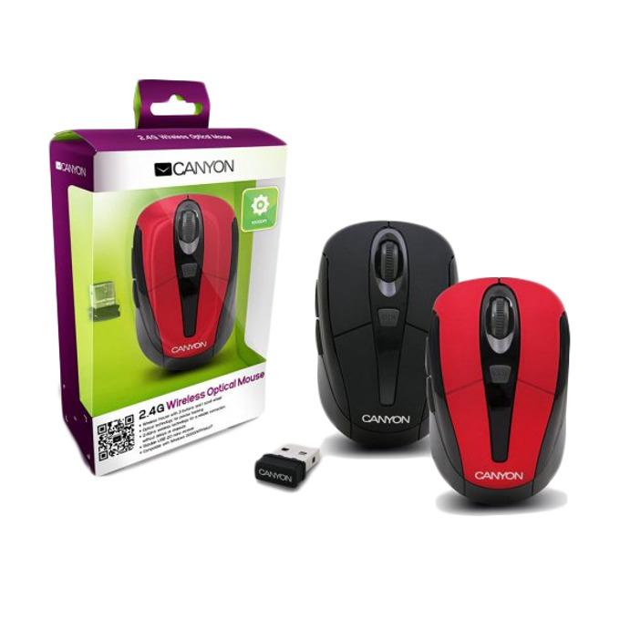 Мишка Canyon CNR-MSOW06R, червена, 1600 dpi, USB image