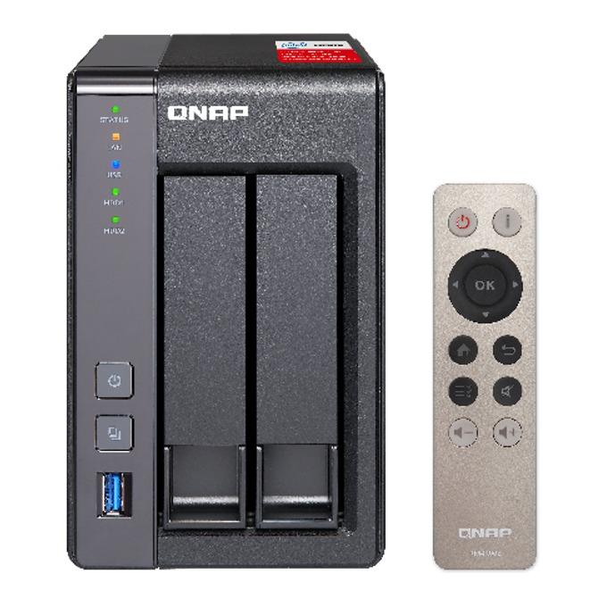 """Qnap TS-251+-2G, четириядрен Intel Celeron 2.0/2.42GHz, без твърд диск (2x 2.5"""" or 3.5"""" SATA 6Gb/s, 3Gb/s HDD or SSD), 2GB DDR3L, 2x Lan1000, HDMI, 2x USB 3.0 image"""