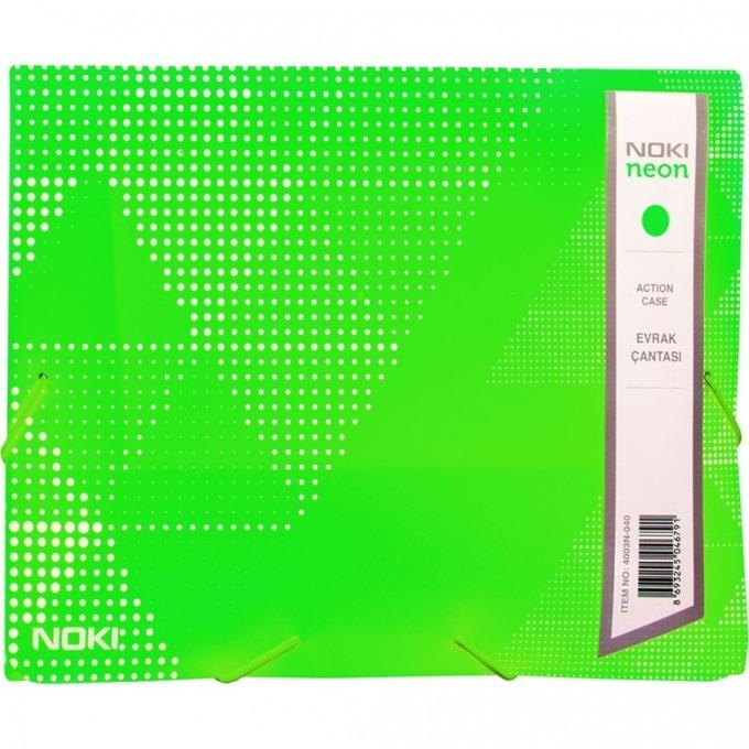 Папка PVC, с ластик, Noki, neon зелен image