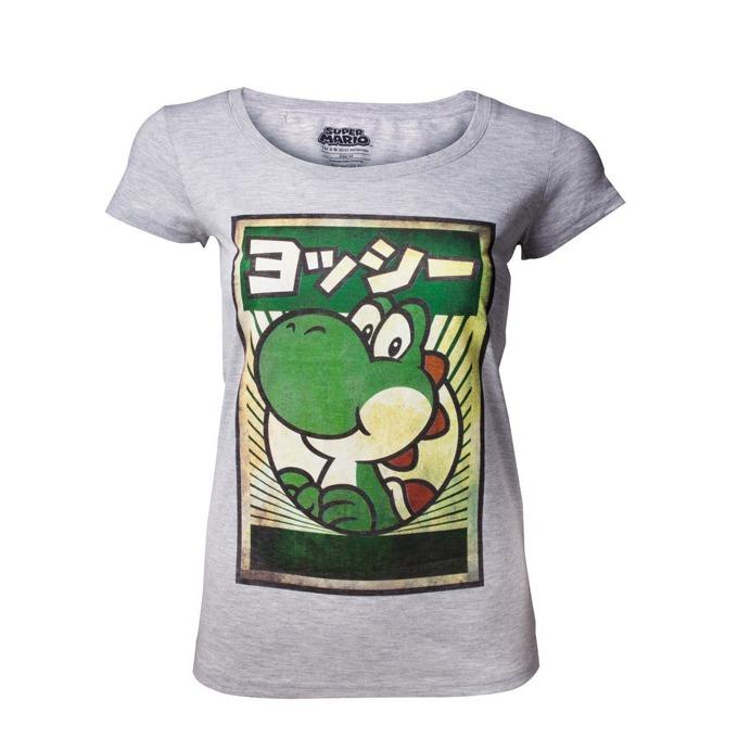 Тениска Bioworld Yoshi womens, размер S, сива image