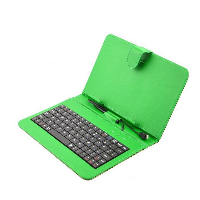 "Калъф Privileg за таблет до 7"" (17.78 cm), ""бележник"", зелен, с клавиатура  image"