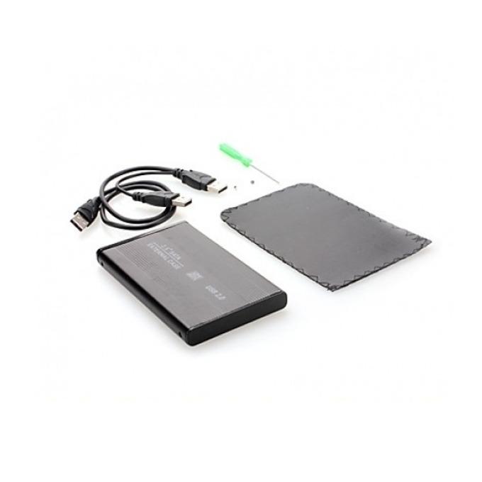 """Външна Кутия за харддиск Digital One SP00062, 2.5"""", USB 2.0, SATA, сива image"""