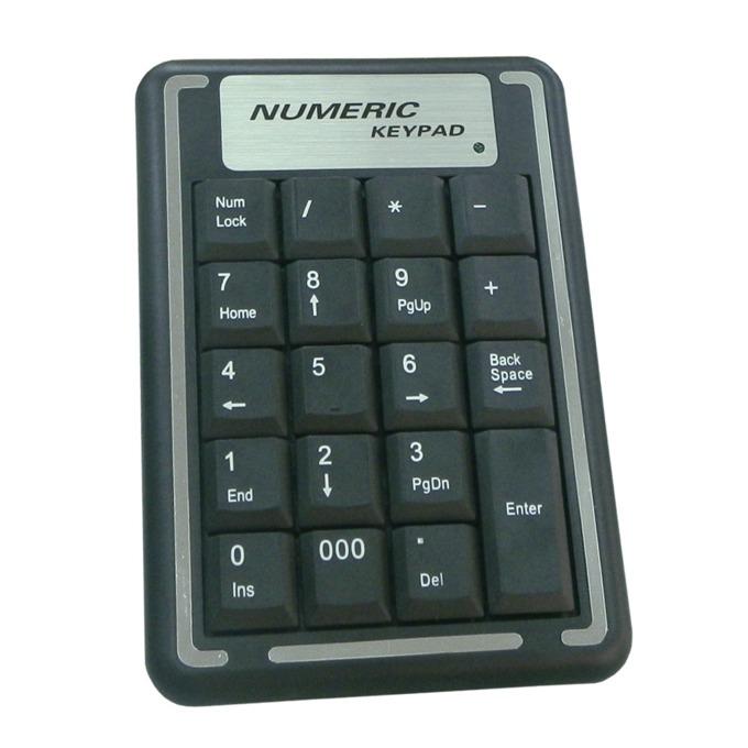Цифрова клавиатура, подходяща за дейности които се използват само цифри при работа с компютър, черен, USB image