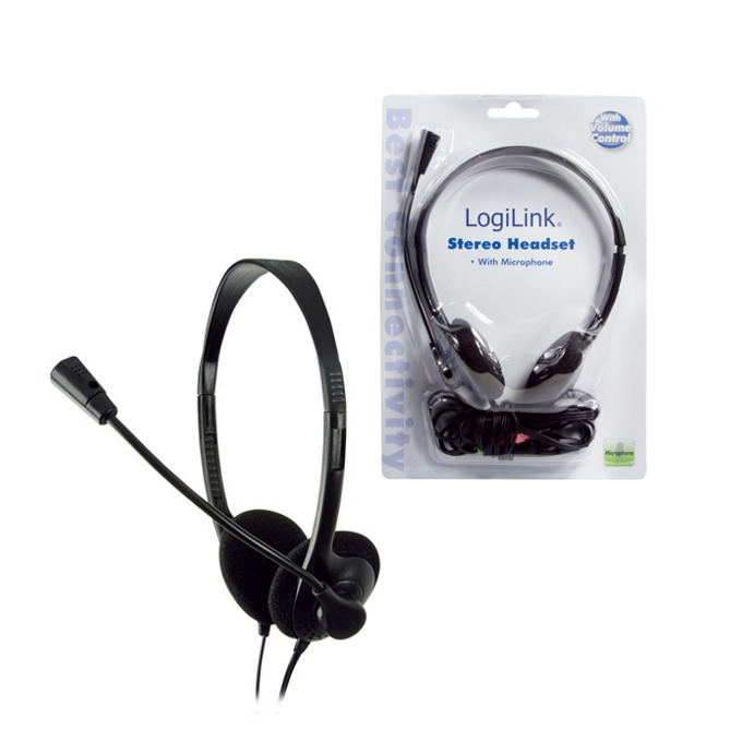 Слушалки LogiLink HS0002, микрофон, черни  image