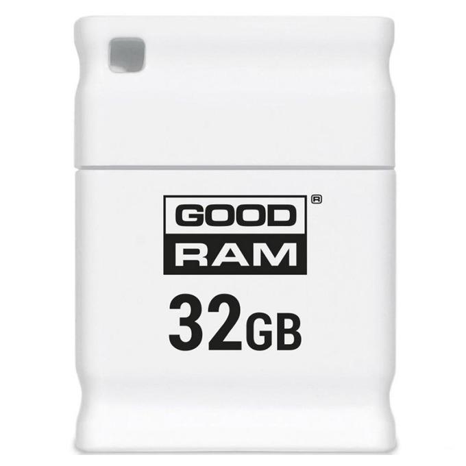32GB USB Flash Drive, Goodram UPI2, USB 2.0, бяла image