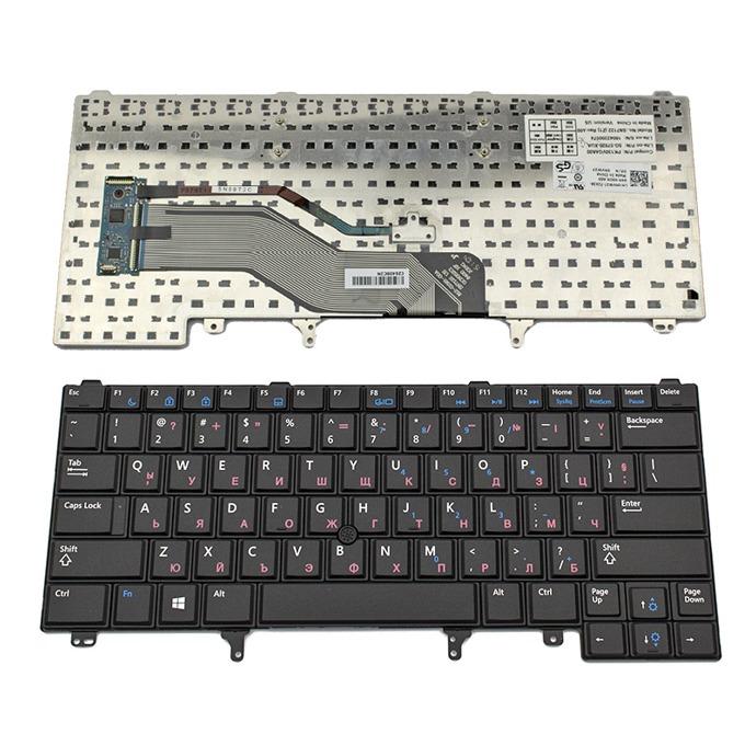 Клавиатура за Dell Latitude E6230/E6320/E6330/E6420/E6430/XT3/E5420/E5430, US, кирилица, черна image
