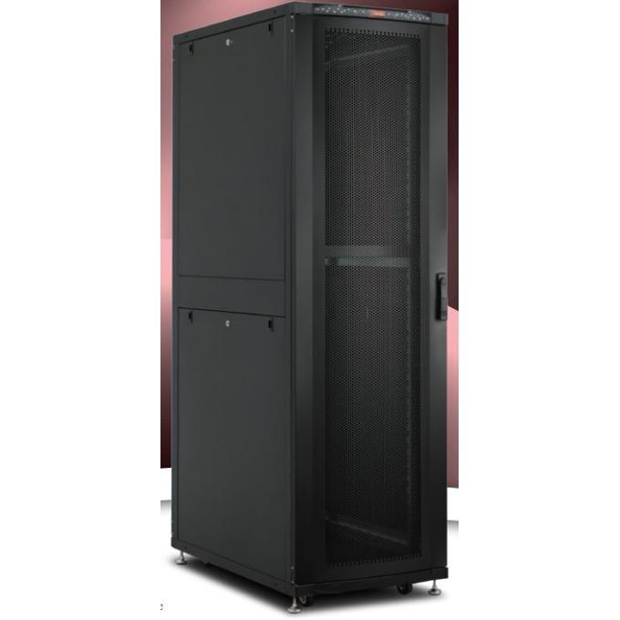 """Комуникационен шкаф Lande LN-SR42U6010-BL, 19"""", 42U, 600 x 1000 мм, предна стъклена врата, черен image"""