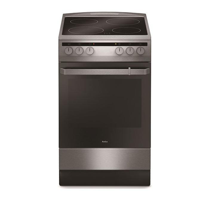 Готварска печка Amica 508CE2.30EH(XV), ток, клас А, 62 л. обем, 4 нагревателни зони, 9 функции на фурната, черна image