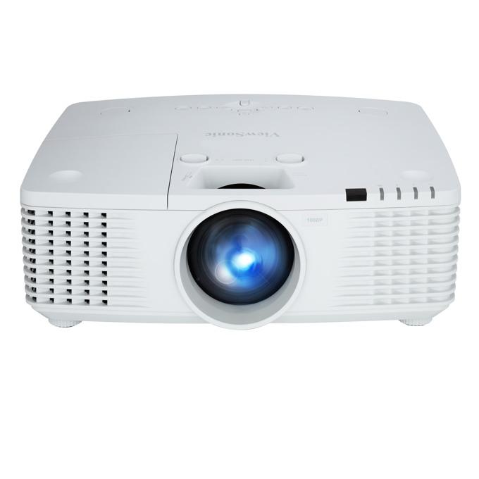 Проектор ViewSonic PRO9530HDL, DLP, Full HD (1920x1080), 6000:1, 5200 lm, VGA, HDMI, DVI-D, RS232, S-Video, BNC, RCA, HDBaseT, LAN, бял image