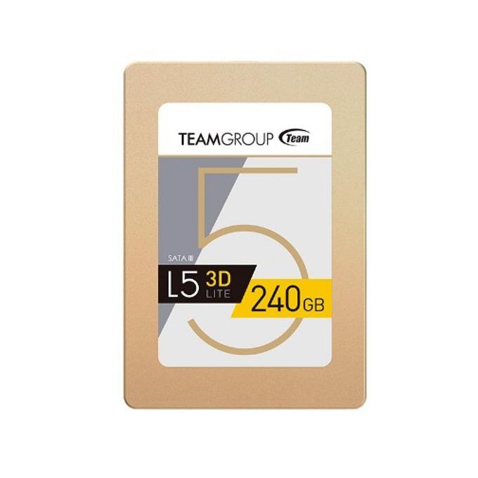 """Памет SSD 240GB TeamGroup L5 LITE 3D, SATA 6Gb/s, 2.5""""(6.35 cm), скорост на четене 470MB/s, скорост на запис 400MB/s image"""