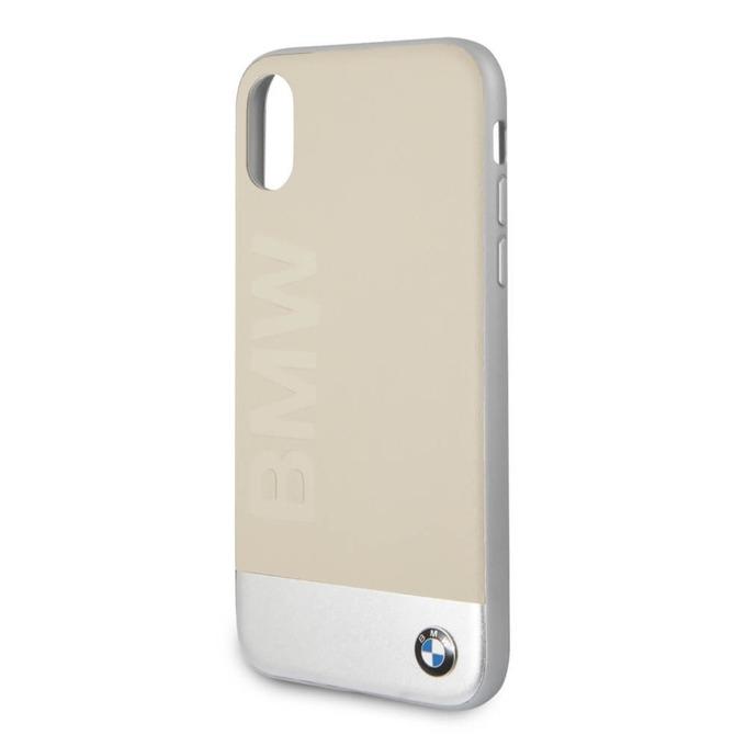 Калъф Apple iPhone X, страничен протектор с гръб, термополиуретанов(TPU), BMW Signature Hybrid Case, бежов image