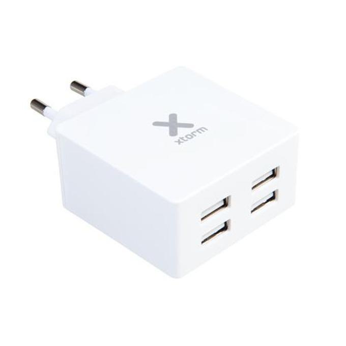 Зарядно у-во A-Solar за смартфони и таблети, 5V, 4.8A, 4x USB image