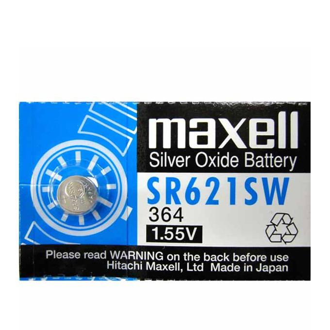 Батерия сребърна Maxell SR, SR621SW, 1.55V, 1 бр. image