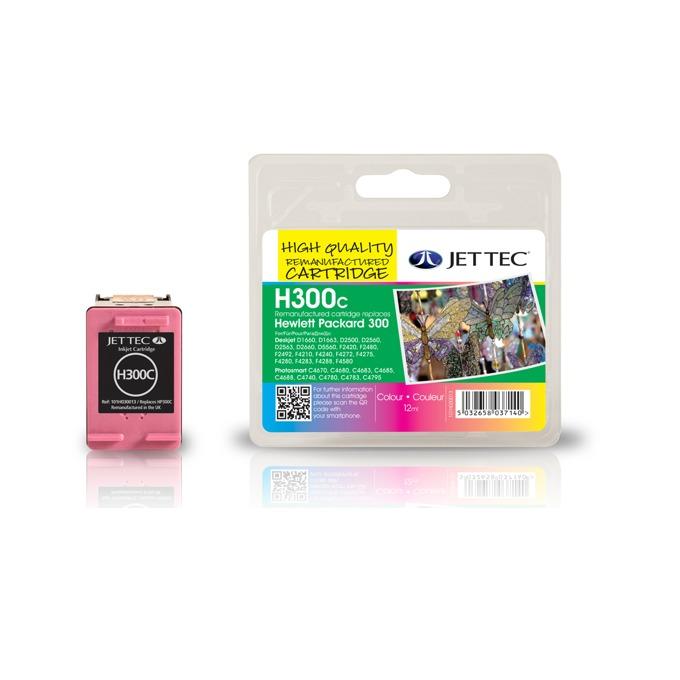 Глава за HP Deskjet D2560/ F4280-All in one - Color - CC643EE, HP300 - Неоригинална - Jet Tec - Заб.: 12 ml image