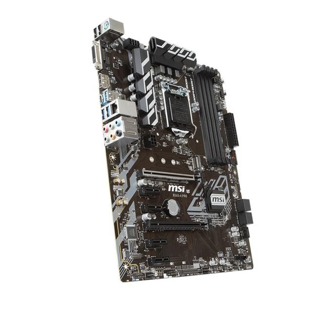 Дънна платка MSI B360-A PRO, B360, LGA1151, DDR4, PCI-E(DVI/DP)(CrossFire), 5x SATA3, 1 x USB 3.1 Gen 2 (Type-C), 1 x M.2 connector, ATX image