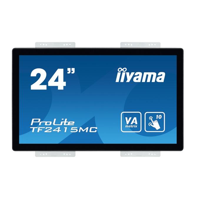 "Дисплей Iiyama TF2415MC-B2, тъч панел, 23.8"" (60.45 cm), Full HD, HDMI, VGA, DisplayPort image"