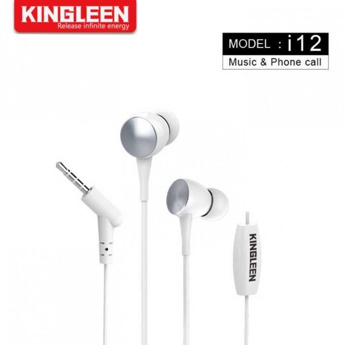 Слушалки Kingleen i12, микрофон, 1.2m кабел, бели image