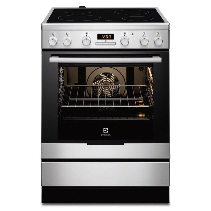 Готварска печка със стъклокерамичен плот Electrolux EKC6430AOX, клас A, 74 л. обем, 4 нагревателни зони, дисплей, инокс  image