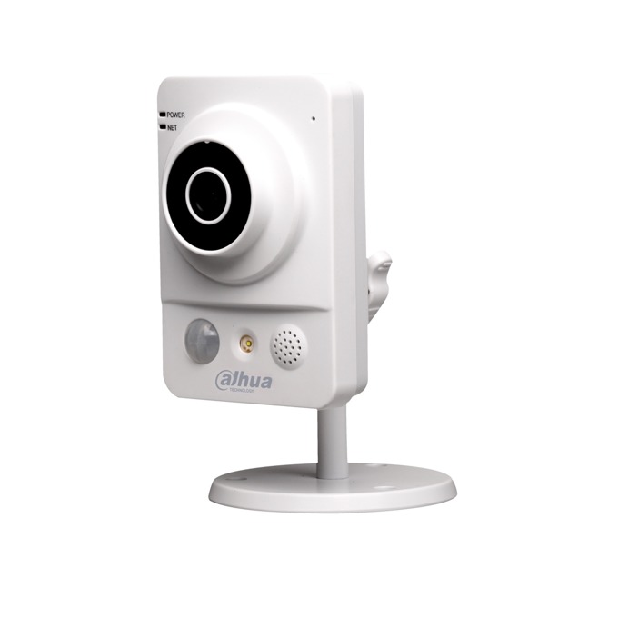 IP камера Dahua DH-IPC-KW12P, преносима/насочена, 1 Mpix(1280×720@30FPS), 3.6mm обектив, H.264/MJPEG, IR осветеност (до 10 метра), вътрешна, 1x 10/100Base-T Ethernet port image