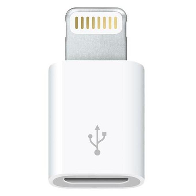 Преходник Apple Lightning(м) към microUSB(ж), iPhone/iPod с Lightning, бял image