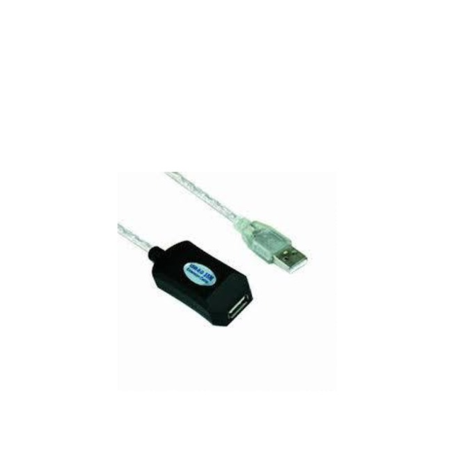 Кабел VCom CU823-20m, USB A(м) към USB А(ж), 20m, бял image