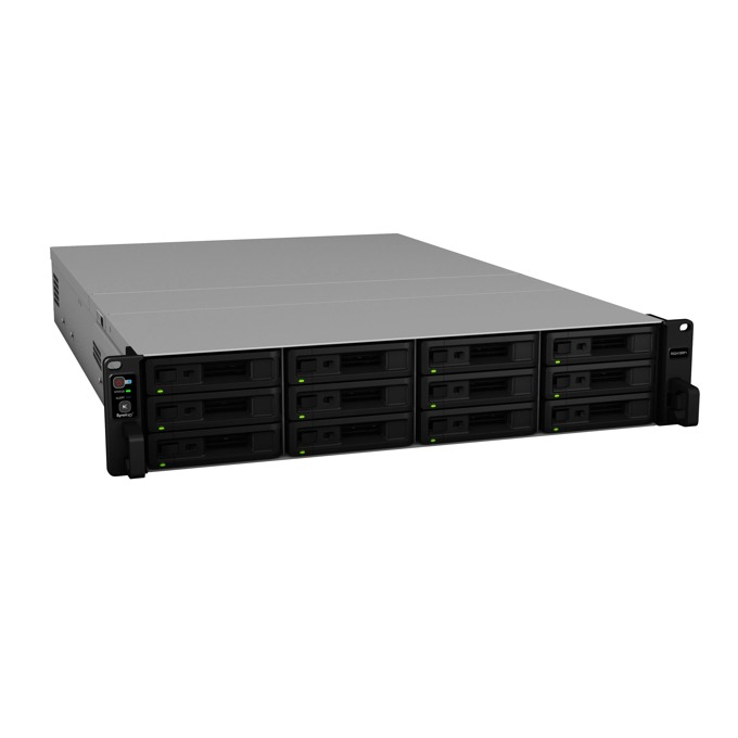 "Мрежови диск (NAS) Synology RackStation RS2418RP+(EW), четириядрен Denverton Intel Atom C3538 2.1GHz, без твърд диск(12x 2.5""/3.5"" SATA HDD/SSD), 4GB DDR4 RAM, 4x Lan1000, 2x USB 3.0 image"