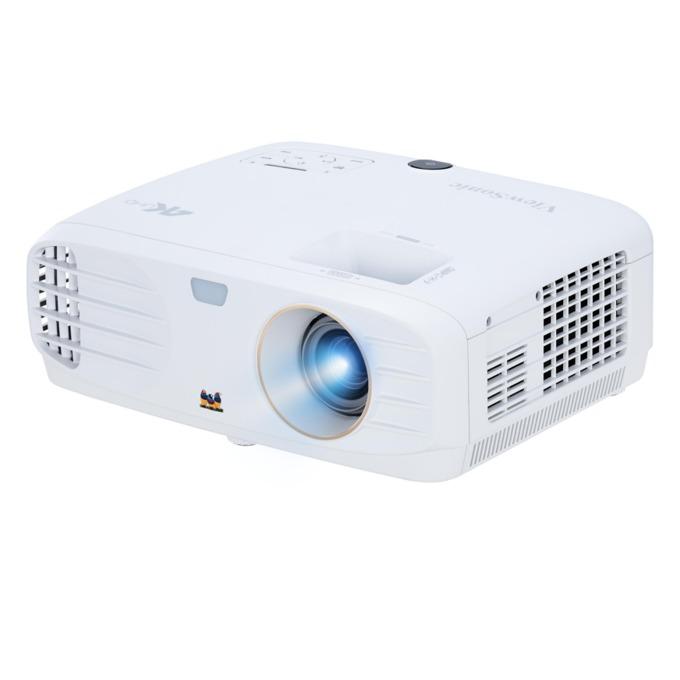 Проектор VIEWSONIC PX747-4K, DLP, 4K UHD(3840×2160), 12000:1, 3500 lm, VGA, HDMI, RS232, USB, бял image