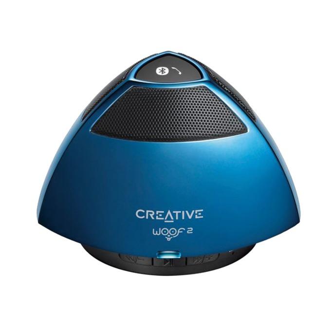 Тонколона Creative WOOF2, 1.0, RMS 1W, Bluetooth/USB, синя, вграден микрофон image