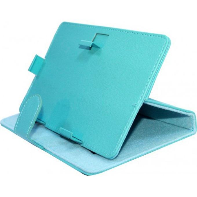 "Калъф за таблет до 9.7"" (24.6 cm), ""бележник"", универсален, кожа, син image"
