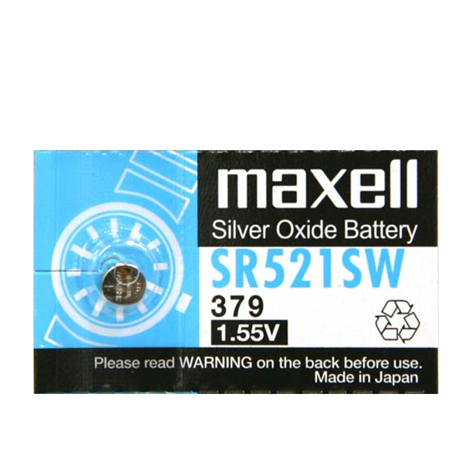 Батерия сребърна Maxell SR521SW, 1.55V, 1 бр. image