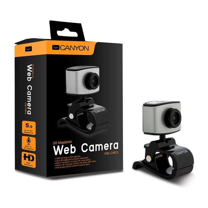Уеб камера Canyon CNE-CWC2 , 1600x1200 pix, микрофон image