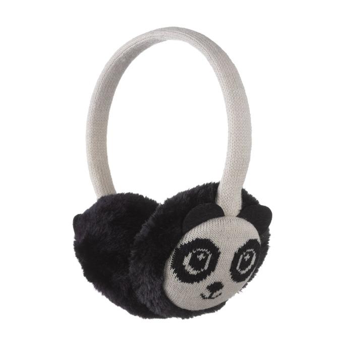 Слушалки KitSound Panda Earmuffs, черно-бели, с ушанки image