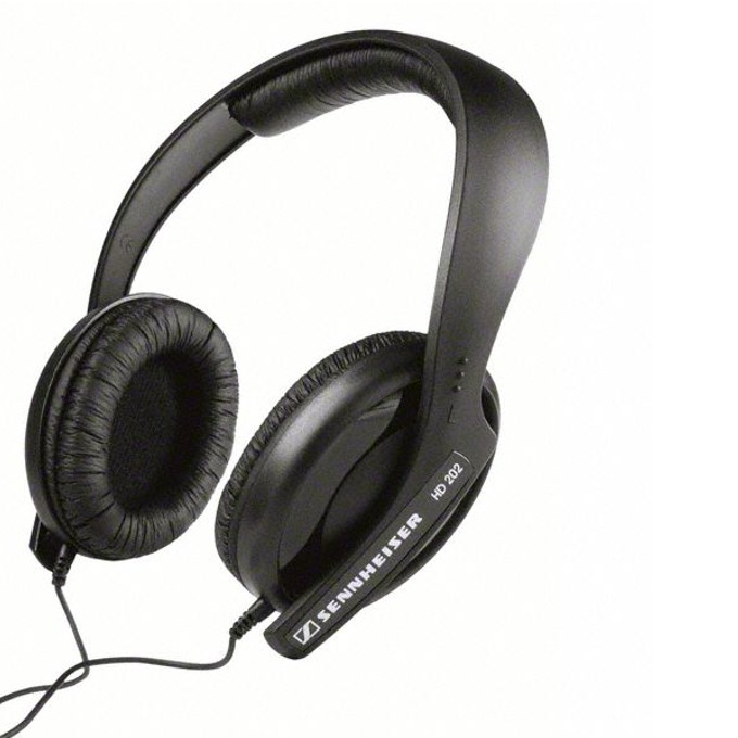 Слушалки Sennheiser HD 202-II, сменяаеми наушници, динамичен бас, 3м меден кабел, черни image