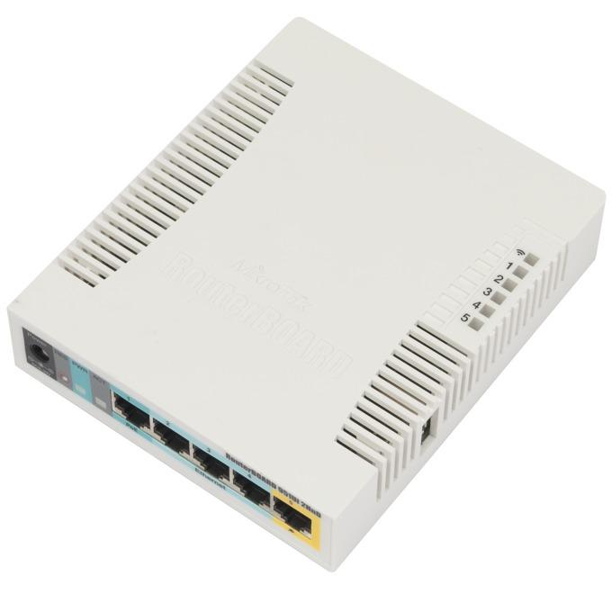 Точка за достъп MikroTik RB951Ui-2HnD, 2.4GHz, Wireless N, 1000mW, USB, 5x 10/100 Ethernet Port image