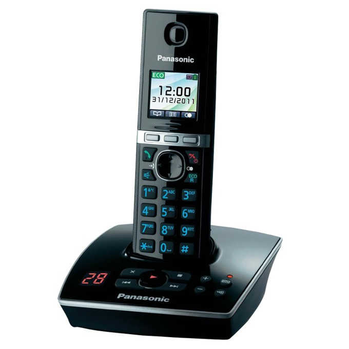 """Безжичен телефон Panasonic KX-TG8061FXB,1.4"""" (3.56 cm) TFT цветен дисплей, черен image"""