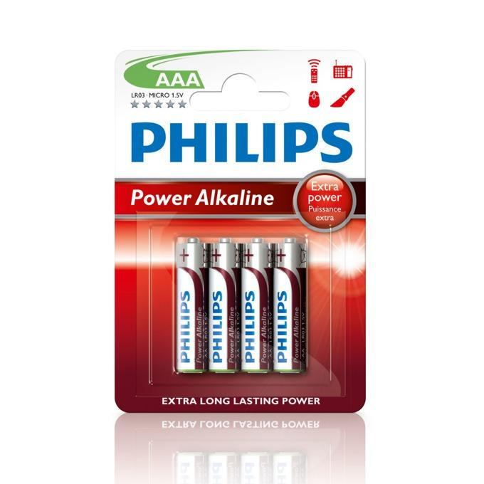 Батерии алкални Philips Power AAA, 1.5V, 4 бр. image