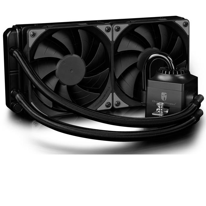 Водно охлаждане DeepCool Captain 240 EX RGB - Aura Sync, съвместимост с Intel 2066/2011/1366/1150/1151/1155/1156/ AM4/AM3+/AM3/AM2+/AM2/FM2+/FM2/FM1 image