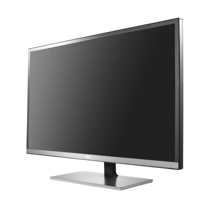 """Монитор AOC U3277FWQ, 31.5""""(80.01 см) MVA панел, UHD, 4ms, 800000000:1, 350 cd/m2, HDMI, DVI, DP, VGA image"""