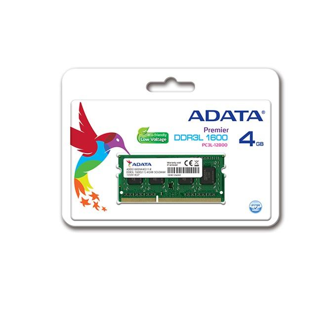 4GB DDR3L 1600MHz, A-Data Premier ADDS1600W4G11-B, SODIMM, 1.35V image