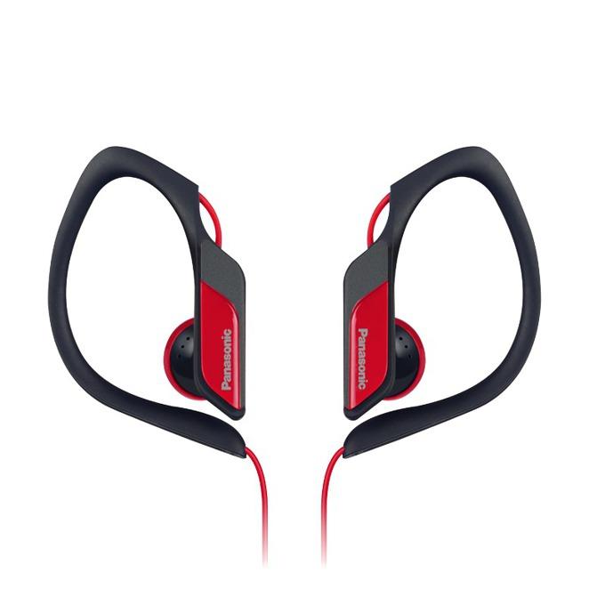Слушалки Panasonic RP-HS34E, спортни, водоустоичиви, сгъваеми, червени image