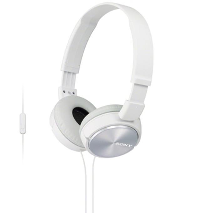 Слушалки Sony MDR-ZX310AP, бели image