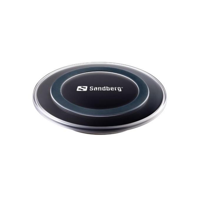 Безжично зарядно устройство Sandberg, Micro USB(ж), 5V/1A, черно image