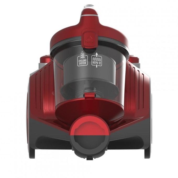 Прахосмукачка Heinner HVC-MC700RD, без торба, 700 W, 2 л. капацитет на контейнера, енергиен клас A, HEPA 12 филтър, червена image