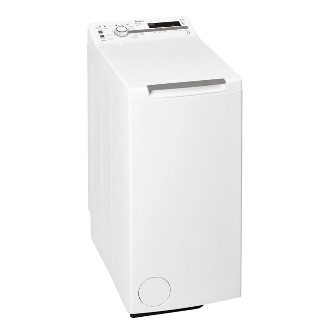 Перална машина Whirlpool TDLR60210, клас А+++, 6кг. капацитет, 1200 оборота в минута, свободностояща, 40 cm. ширина, контрол на загубата на баланс, защита от деца, бяла  image
