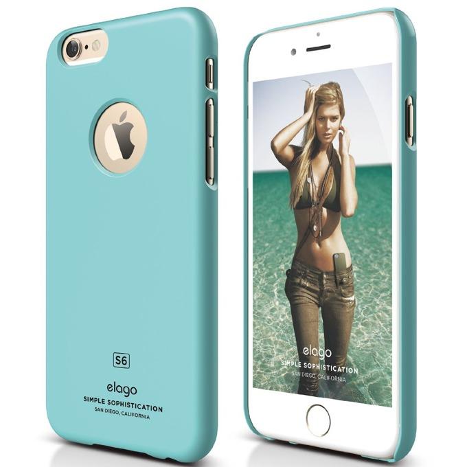 Поликарбонатов протектор Elago S6 Slim Fit за iPhone 6, син, HD покритие  image