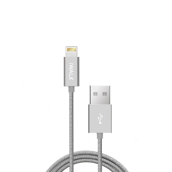 Кабел iWalk, USB(м) към Lightning(м), 1m, сребрист image